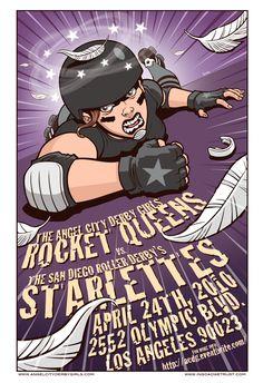 Angel City Derby Girls poster2 by ~JasonGoad on deviantART