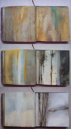sketchbook - I 'd love to do this in my sketchbook  - playing with colour - great abstracts
