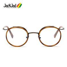 JackJad 2017 New Fashion Vintage Retro TR90 Plain Glasses Pretty Round Eyewear Frame Myopia Radiation Protection Glasses Frame #Affiliate