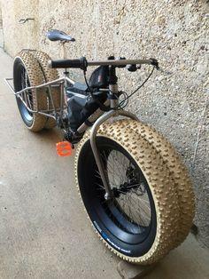when a fat bike is not fat enough ; Cool Bicycles, Cool Bikes, Retro Rad, Lowrider Bicycle, Motorised Bike, Chopper Bike, Mountain Bike Shoes, Bike Seat, Electric Bicycle