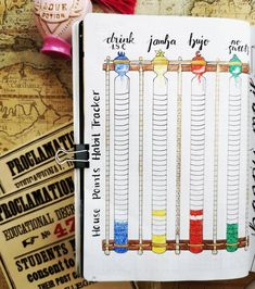 """Nina on Instagram: """"house point habit tracker for my harry potter themed february... there was only space for 4 of my habits but I still like it, I simply took…"""" École Harry Potter, Harry Potter Houses, Bullet Journal Savings Tracker, Bullet Journal Layout, Journal Quotes, Journal Ideas, School Items, Mood Tracker, Life Organization"""