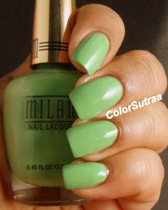 MILANI Spring 2014 collection : Swatches and Review (PART I) Showy Seagreen