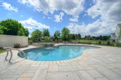 In ground pool in central PA, Goodall Pools & Spas. Camp Hill, In Ground Pools, All Over The World, Swimming, Outdoor Decor, Mattresses, Spas, Beautiful, Home