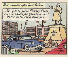 La bande dessinée et lautomobile : Partie 1, Tintin • Tintin, Herge j'aime