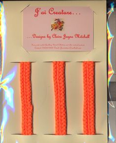 Pack of 3 bracelets £3.00 (excluding postage) Ideal for party bag fillers! Colour: Bright Orange