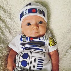 R2D2 Outfit  Baby Favourite  Funny Robot Baby by retrostate