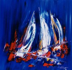 Tribord Toute! 32inx32in (81cmx81cm), at The Westport River Gallery