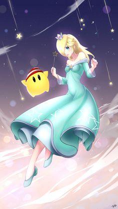 Rosalina and Luma by RaRa Mario Bros., Mario And Luigi, Mario Kart, Super Smash Bros, Super Mario Bros, All Mario Games, Nintendo Princess, Video Game Anime, Spyro The Dragon