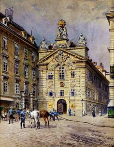 Ernst Graner Fire Station in Vienna - The Largest Art reproductions Center In Our website. Low Wholesale Prices Great Pricing Quality Hand paintings for saleErnst Graner Large Art, Art Reproductions, Art For Sale, Watercolor Art, Past, Old Things, Louvre, The Incredibles, Dibujo