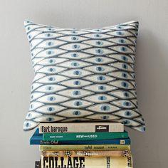 Allegra Hicks Lucky Eye Crewel Pillow Cover | west elm