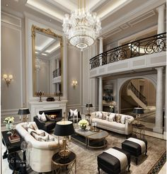 38 The Best Relaxing Living Room Design Ideas Mansion Interior, Luxury Homes Interior, Luxury Home Decor, Living Room Interior, Home Interior Design, Living Room Decor, Interior Decorating, Modern Interior, Living Area
