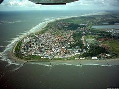 Norderney aus dem Flugzeug fotographiert