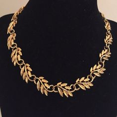 """NECKLACE & EARRINGS Beautiful!!  leaf necklace & earrings. 16"""" with a secure snap clasp closure Jewelry Necklaces"""