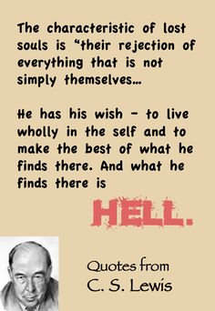 C. S. Lewis quote on hell.