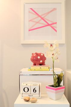Aline's Wonderfully Washi Taped Home Office DeskTops | Apartment Therapy