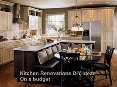 New DIY Kitchen Renovations and Makeovers Ideas on a Budget #Kitchenrenovation #Diykitchen