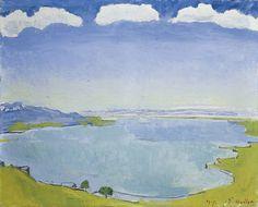 Ferdinand Hodler (1853-1918): Genfersee von Caux aus, 1917, Kunstmuseum