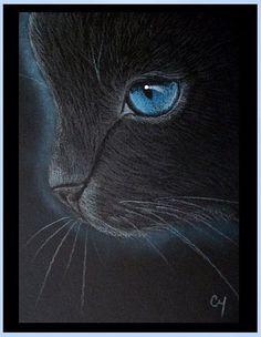 Cyra R. Cancel  | Black Cat - Katze 13 - by Cyra R. Cancel from Gallery #CyraCancelArt #Cyra #Art
