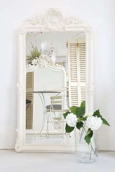 Large Dressing Mirror - Reproduction 19th Century French mirror found on decorativecountryliving.com