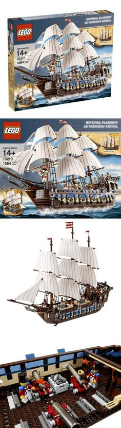 LEGO Pirates Imperial Flagship (10210), Build an incredible classic sail ship. All hands on deck! This amazingly detailed and realistic historical ship has three removable sections. The main hull contains 4 firing cannons, ammunition crates..., #Toys, #Building Sets