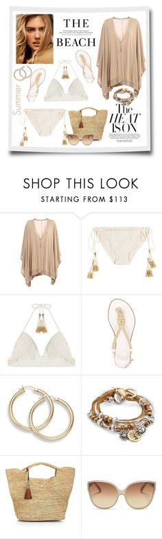 """""""The Beach"""" by terry-tlc ❤ liked on Polyvore featuring Brunello Cucinelli, SHE MADE ME, H&M, MICHAEL Michael Kors, Lizzy James, Heidi Klein and Linda Farrow"""
