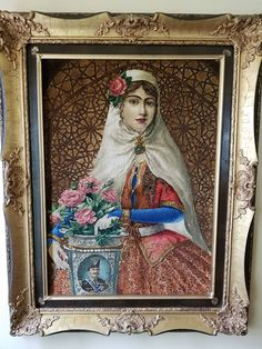 2.8 x 3.4 Masterpiece Persian Vintage Tabriz Top Quality Portrait 19th Century Iran Turkish Isfahan by maymayrugs on Etsy