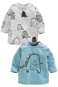 Acheter Lot de deux t-shirts dinosaures (0-18 mois) disponible en ligne dès aujourd'hui sur Next : France