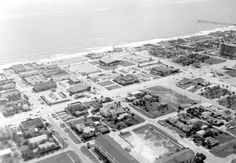 Florida Memory - Aerial view of Jacksonville Beach Old Florida, Florida Beaches, Jacksonville Florida, Photo Reference, The Good Old Days, Aerial View, Photo Wall, Memories, Adventure