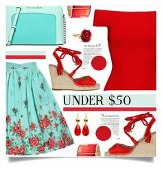 """Skirt under 50$"" by captainsilly ❤ liked on Polyvore featuring Michael Kors, Posh Girl and Oscar de la Renta"