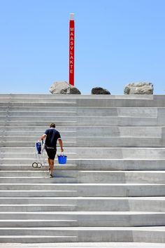 Strandtrappen op Maasvlakte2 opgeleverd - De Architect
