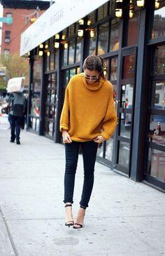 come abbinare maglione oversized