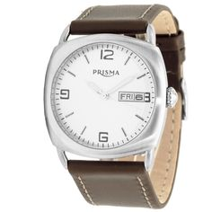 Most famous Dutch watch brand Prisma with discount. Popular Watches, Watch Brands, Omega Watch, Chronograph, Dutch, Leather, Accessories, Band, De Stijl