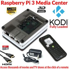 Raspberry Pi 3 Model B Extreme XBMC Media Center B/W