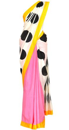 Add some quirk and fun to your ethnic wear with this polka dot sari by the super talented Masaba Gupta!