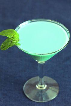 Grasshopper Cocktail recipe with creme de menthe, creme de cacao and light cream.