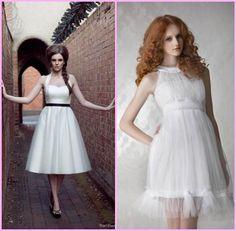 vestido de noiva curto tule