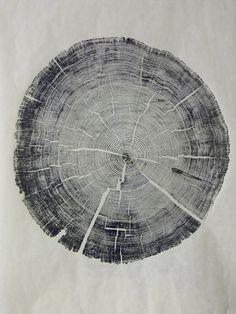 cedar wood relief print by Bryan Nash Gill