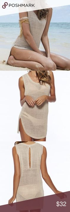 NIP Swimsuit Coverup New in package nude swimsuit coverup with keyhole back. Blue Door Swim Coverups
