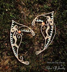 Uinen Elf Ears LOTR Elf Ears Elf Earrings by SilverElfJewelry, $52.00