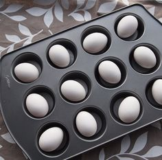 How to make the perfect hard-boiled eggs - in the oven!