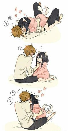 The 9 best cute anime couples images on pinterest anime couples personal interest in animal eared girls photo find this pin and more on cute anime couples thecheapjerseys Image collections