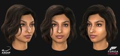 A selection of the driver heads and hairstyles we worked on during the production of Forza Horizon The title was extremely well received winning the award for Best Sports/Racing Game at the Game Awards and received a 91 on Metacritic. Forza Horizon 3, 3 Characters, Queen Makeup, Game Character, Racing, Female, Lady, Hair Styles, Cgi