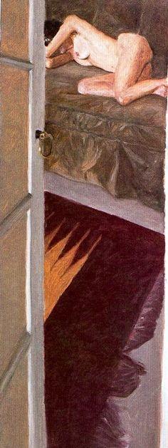 Avigdor Arikha, Sleeping Nude with Indian Rug, 1985