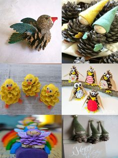 40 Easy and Cute DIY Pine Cone Christmas Crafts - holiday homemade pinecone xmas ornaments 34 Best Picture For diy crafts For Your Taste You are lo - Kids Crafts, Pinecone Crafts Kids, Pinecone Ornaments, Cork Crafts, Christmas Crafts For Kids, Diy Christmas Ornaments, Crafts To Sell, Holiday Crafts, Easy Crafts