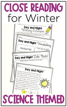 4 close reading passages (with bonus activities) to help integrate the science topics reindeer, mammals, snow, and birds. This winter … Common Core Ela, Common Core Reading, Close Reading Strategies, Reading Charts, Middle School Reading, Science Topics, Reading Comprehension Passages, Teaching First Grade, Thing 1