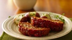 Classic meat loaf made delicious using Progresso® Italian style bread crumbs - a scrumptious dinner.
