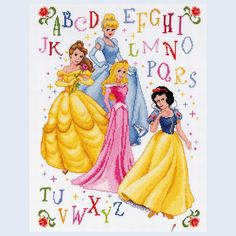 Free Disney Cross Stitch Patterns | Princess - counted cross-stitch kit Vervaco