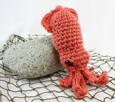 Cali il calamaro  Coral di LilyMoonCrochet su Etsy