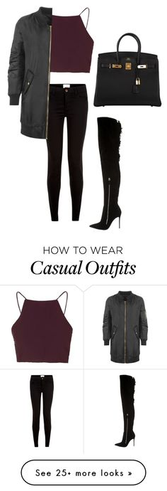 """Casual"" by audylove on Polyvore featuring Topshop, Gianvito Rossi, New Look, WearAll and Hermès"