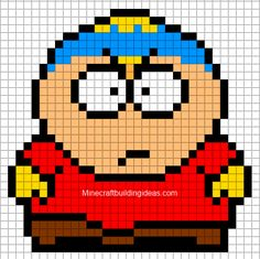 Minecraft Pixel Art Templates: south park